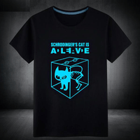 Cat is ALIVE - Glow in the Dark Funny T-Shirt