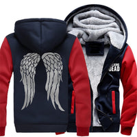 New Arrival The Walking Dead Hoodie with Zombie Daryl Dixon Wings Winter