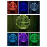2017 Force Awakens ! Multi-colored Death Star Table Lamp 3D Death Star Bulbing Light Touch Switch Gifts Lamp for Star Wars Fans - LightBalance.co