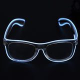 El Wire Glasses Crystal Clear Frame Flash Sunglasses