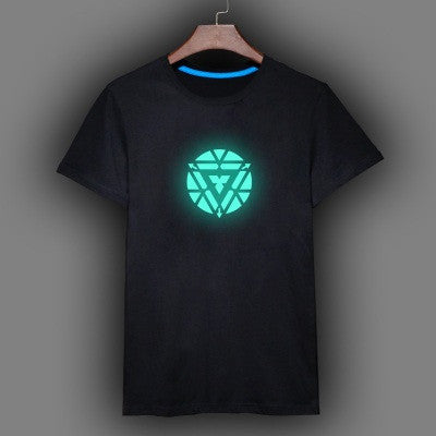 2018 Iron Man Fluorescent T-shirt - Superhero CrossFit Short Sleeve T-shirt
