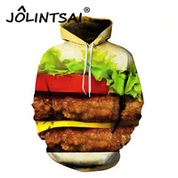 Creative Burger Cartoon Lovers Unisex Hoodie