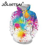 Lovely Oil Painting Printing Tracksuits Hoodies with Pockets