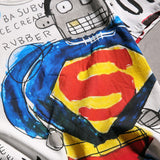 Funny Graffiti of Superman Cartoon T-shirts