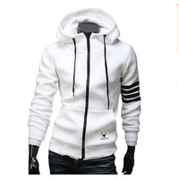 2017 New Fashion Men's Striped Slim Fit Tracksuits Hoodies
