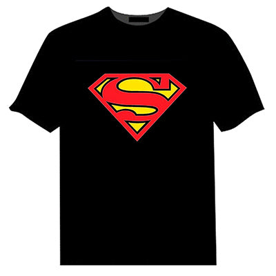 superman logo sound activated t shirt