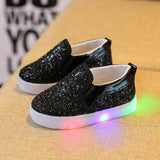 Kids Casual Abstract Sneakers - LED Luminous Casual Colorful Light Shoes - LightBalance.co