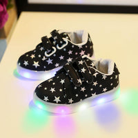 Baby Kids Shoes Sneakers LED Luminous Child Toddler Casual Colorful Light Shoes - LightBalance.co
