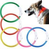 Super Deal  Rechargeable USB Waterproof LED Flashing Light Band Safety Pet Dog Collar XT - LightBalance.co