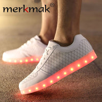 Merkmak White Diamond Line Led Shoes (Unisex) - LightBalance.co