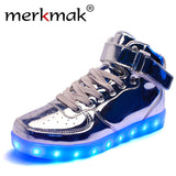 Golden / Silver LED Sneakers - Shoes - LightBalance.co