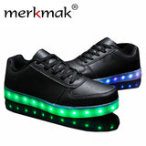 Merkmak Black & White Flats Dance LED Shoes - LightBalance.co