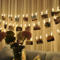 Personalized Wedding Decoration Starry Photo Holder String Lights Book Room Decor Clip Window Lights LED String Light - LightBalance.co