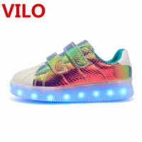 LED Children Shoes Light Sneaker Kids Led Shoes Usb Charging Glowing Shoes Boys Girls light up Sports roller Shoes Sneakers