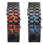 Volcanic Lava Style Iron LED Wrist Watch - LightBalance.co