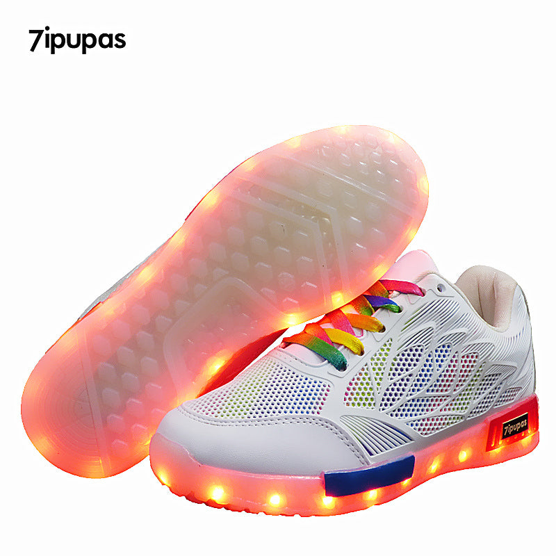 7ipupas Colorful Wings Led Casual Sneakers For Kids