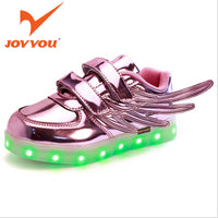 JOYYOU Glowing Luminous Sneakers For Kids With Wings