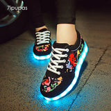 7ipupas Graffiti LED Luminous Kids Sneakers (Unisex) - LightBalance.co