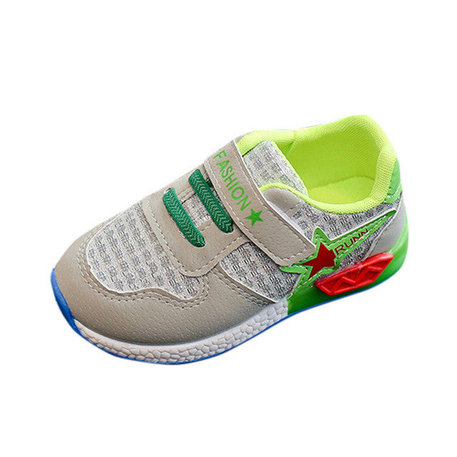 Romirus STAR Sneaker LED Luminous Toddler Sport Shoes