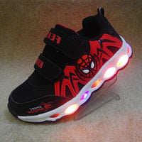 Black SpiderMan New LED Fashion Casual Shoes
