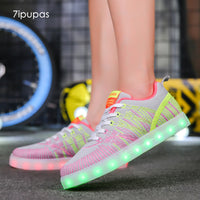7ipupas Embroidery Led Sneakers (Unisex) - LightBalance.co