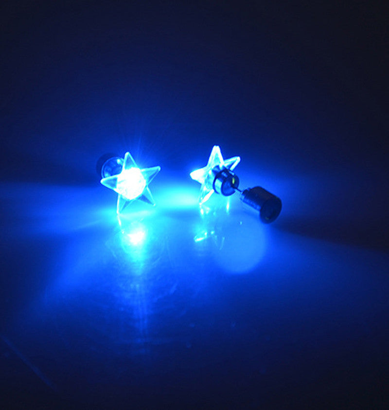 1 Pair/2pcs Fashion Dance Party Accessories Light Up LED Bling Ear Studs Earring - LightBalance.co