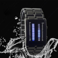 Binary LED Watch Iron Man Full Of High-grade Waterproof Cool Lava Watch