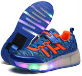 Lace Fashion Sports Casual LED Roller Shoes