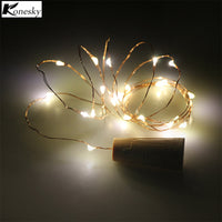 2m 20-LED Copper Wire String Light with Bottle Stopper for Glass Craft Bottle Fairy Wedding Decoration guirlande lumineuse led - LightBalance.co