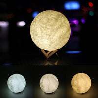 Smart RGB LED Atmosphere Light Touch Sensor Rechargeable Bedside Table Night Lamp Camp Light 3-level Warm White Brightness - LightBalance.co