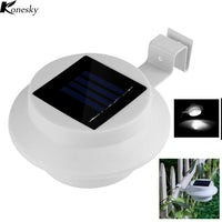 Konesky 3 LED Fence Solar Lamp Outdoor lighting Solar light for Yard Wall Lobby Pathway Garden Solar-Powered Lamps - LightBalance.co