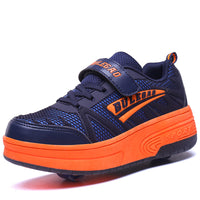 Bulebao Strike Line Sport Casual One or Two Wheelie Shoes for Kids