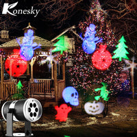 Christmas snow laser projector outdoor LED Lamps lighting the lamp of the stage of the light of the landscape of the garden - LightBalance.co