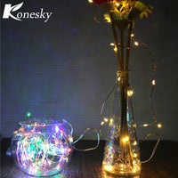 3m LED  Copper  Wire String Light with  Stopper for Glass Craft Bottle Fairy Valentines Wedding Decoration Lamp  RGB/ Warm White - LightBalance.co