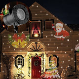 Holiday Decoration Waterproof Outdoor LED Stage Lights 12 Types Christmas Laser Snowflake Projector lamp Home Garden Star Light - LightBalance.co