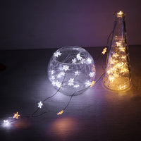 Konesky 30- LEDs Copper Wire Star String Light for Glass Craft Bottle Fairy Valentines Wedding Lamp Party Xmas Decoration - LightBalance.co