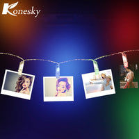 Garland LED String Lights Novelty Fairy Lamp with Card Photo Clip - LightBalance.co