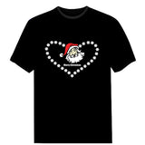 Unique Men Clothing Love Santa LED T-shirts (Sound Activated)
