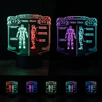 Marvel Hero Iron Man 3D Action Figure Mixed Color Night Light LED Vision Lamp RGB Bedoom Table Home Decor Baby Creative Gifts - LightBalance.co