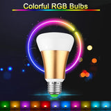 Home LED Bulb RGB + Cool White 10W E27 Stage Lamp 12 Colors with Remote Control