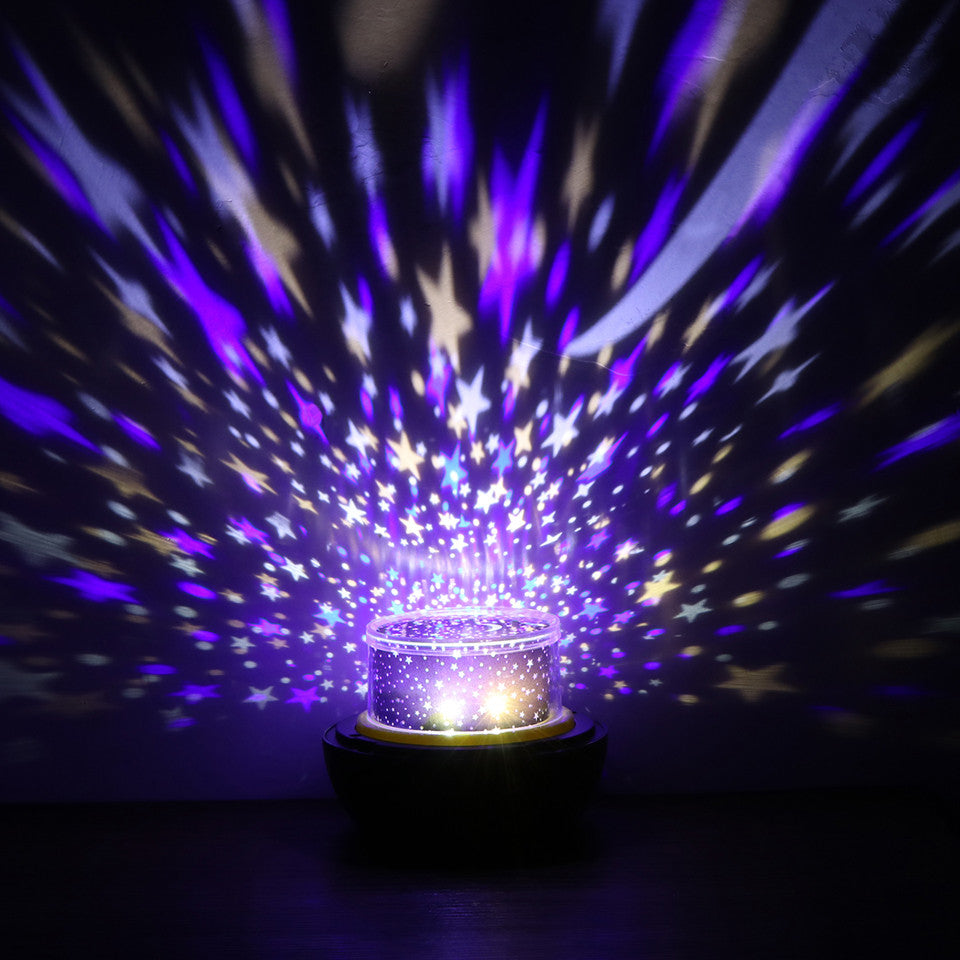 novelty earthuniverse led usb star projector lamp table 3d night light with ocean birthday adjust brightness for kids children - Star Projector Lamp