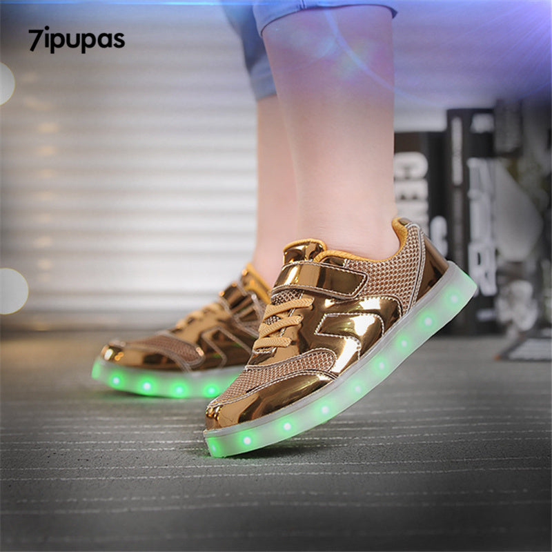 7ipupas Shiny Luminous Sneakers with 7 colors for Kids - LightBalance.co