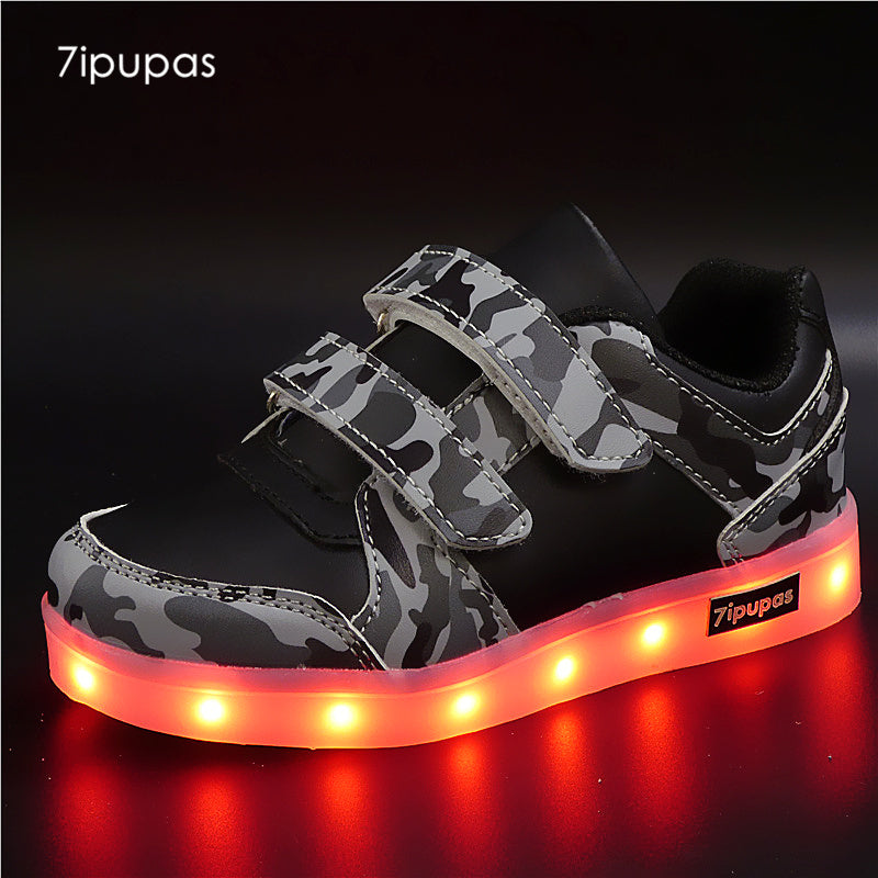 7ipupas Camouflage Glowing Sneakers For Kids - LightBalance.co