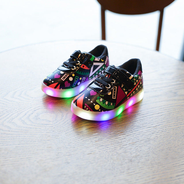 JOYYOU Glowing Luminous Sneakers With Light Up Led School Footwear