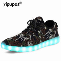 7ipupas Camouflage Luminous Sneakers For Kids & Adults