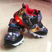 Avengers  Sport Casual LED Flashing Sneakers