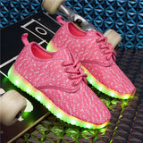 JOYYOU Abstract Dots Kids LED Glowing Sneakers
