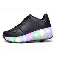 One Wheel Tennis LED Light Wheelies Shoes