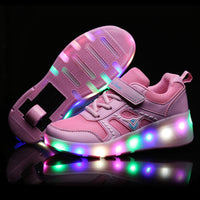 Children Single Wheel LED Light Wheelies Shoes