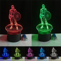Guard of Captain America - 3D Illusion Night Light Lamps